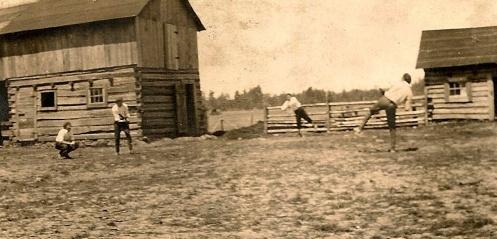 Playing Baseball on the Daggett, MI Farm
