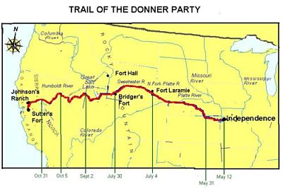 Donner Party Map