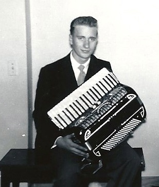 Darrell with his third accordion.