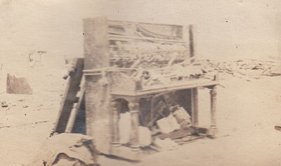 Huff's Piano after the Tornado hit.