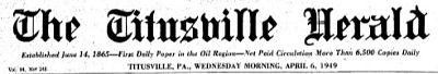Titusville Herald Title