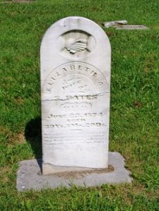 Elizabeth Blue Bates tombstone