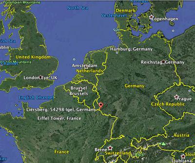 Liersberg on the western border of modern day Germany.