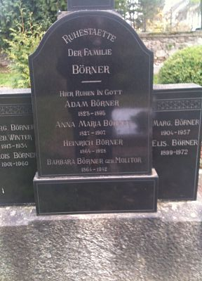 Gravestone of the Börner family in Gaulsheim.